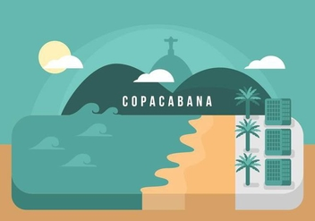 Copacabana Background - бесплатный vector #436635
