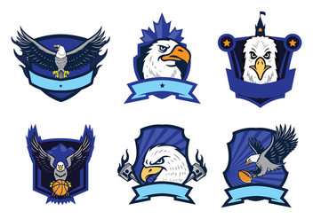Free Eagles Logo Vector Set - vector gratuit #436645