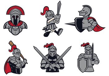 Free Knights Logo Vector Set - Kostenloses vector #436665