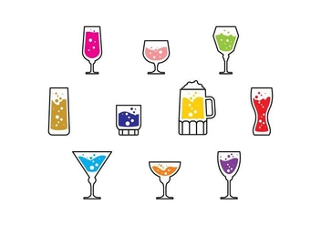 Free Cocktail Icon Vector - vector gratuit #436685