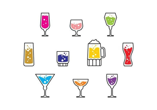 Vector icono de Cocktail gratis - vector #436685 gratis