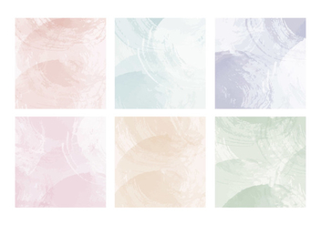 Vector Pastel Watercolor Cards - бесплатный vector #436695