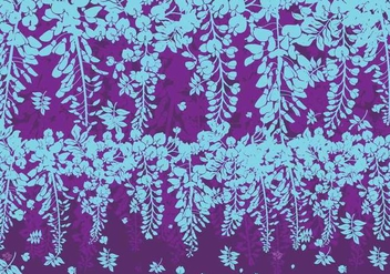 Blue and Purple Wisteria Flowers Vector - Free vector #436705