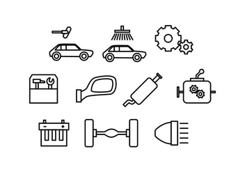 Free Automotive Line Icon Vector - vector #436725 gratis