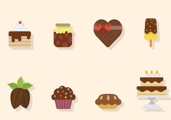 Flat Chocolate Vectors - бесплатный vector #436755