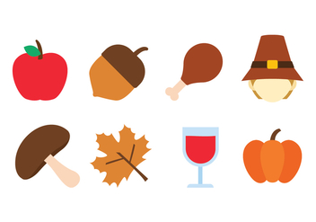 Thanksgiving Icon Set - бесплатный vector #436835