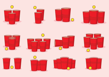 Beer Pong Icon - Free vector #436865