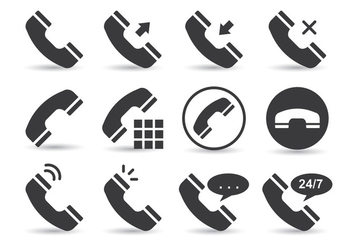 Telecommunication Phone Vectors - Free vector #436955