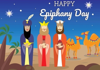 Happy Epiphany Days Vector Set - бесплатный vector #437005