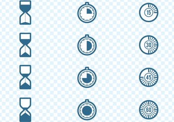 Timers Icons Set - vector gratuit #437045