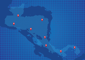 Central America Map Background Vector - Free vector #437105