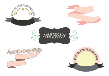 Anniversary Ribbon Vector - бесплатный vector #437115