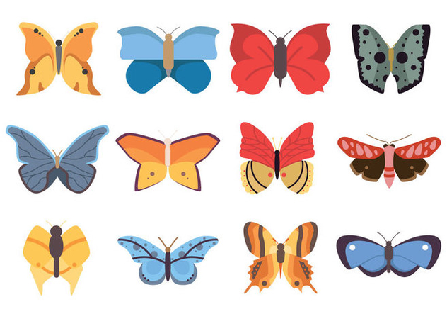 Butterflies Icon - vector gratuit #437125
