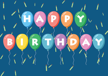 Happy Anniversaire Background Vector - Free vector #437145