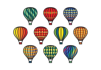 Free Colorful Hot Air Balloons Vectors - Free vector #437165