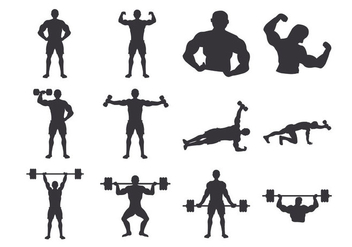 Bodybuilder Body - vector gratuit #437205