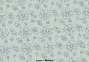 Vector Pattern With Flowers On Background - Free vector #437335