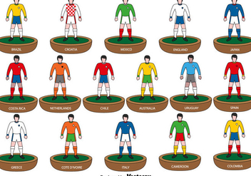 Subbuteo Players icons - Vector - Kostenloses vector #437365