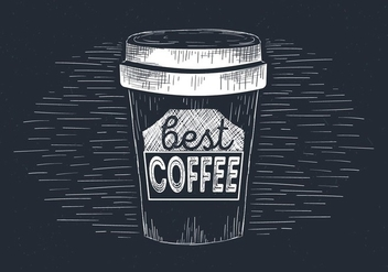 Free Hand Drawn Vector Coffee Illustration - Free vector #437375