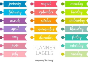 Vector Planner Labels - vector gratuit #437395