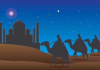 Happy Epiphany Day Vector - Free vector #437405