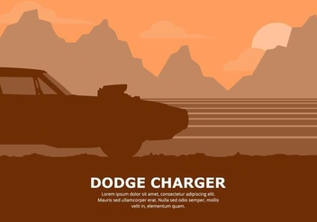 Dodge Car Illustration - vector #437425 gratis