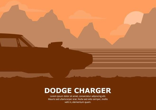 Dodge Car Illustration - vector gratuit #437425