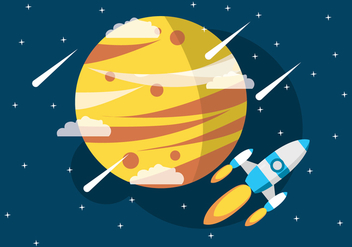 Space Ship In The Universe - vector #437465 gratis