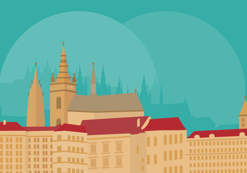 Prague Landmarks - vector #437485 gratis