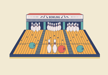 Bowling Lane Vector - Free vector #437495