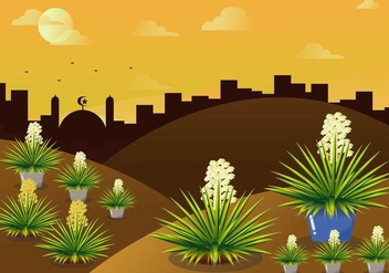 Exotic Landscape Vector - бесплатный vector #437505