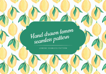 Vector Hand Drawn Lemon Seamless Pattern - бесплатный vector #437515