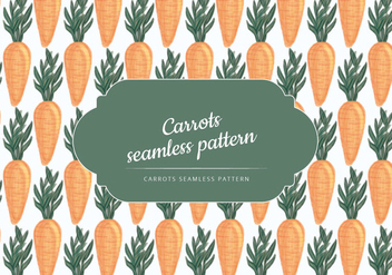 Vector Hand Drawn Carrots Pattern - бесплатный vector #437525