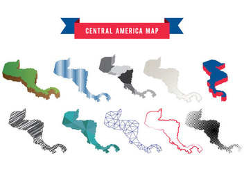 Central America Map Vector - vector #437615 gratis