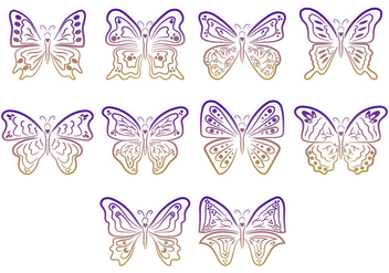 Set Of Mariposa Symbols - Free vector #437635