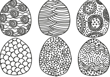 Vector Hand Drawn Easter Eggs For Spring Season - vector #437675 gratis