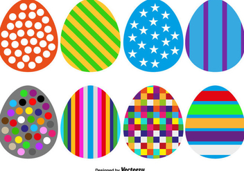Collection Of 8 Vector Easter Eggs For Any Use - Vector - Free vector #437685