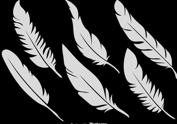 Vector Set Of 6 Feather Icons - vector gratuit #437695