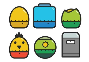 Egg timer icon set - vector gratuit #437705