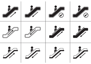 Escalator icons - vector gratuit #437725