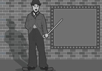Charlie Chaplin Illustration - Free vector #437785