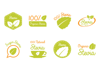 Stevia Label and Logo - Kostenloses vector #437795