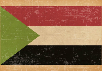 Grunge Flag of Sudan - бесплатный vector #437805