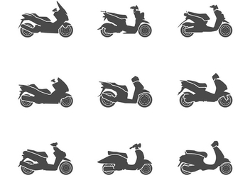 Scooter Icon Vector - Free vector #437915