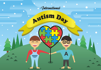 International Autism Day Vector Art - vector gratuit #438065