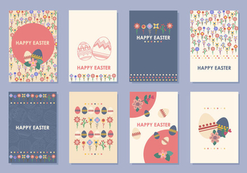 Easter Gift Tag and Card Vectors - Kostenloses vector #438095