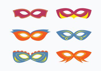 Masquerade Mask Vector Collection - vector gratuit #438165