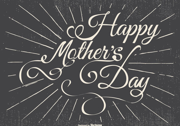 Typographic Happy Mother's Day Illustration - Kostenloses vector #438175