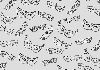 Masquerade Ball Pattern - Free vector #438215