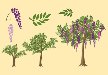Wisteria Plant Grow Free Vector - Free vector #438225